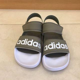 日本 Adidas 魔鬼氈涼鞋 灰綠 (含運)
