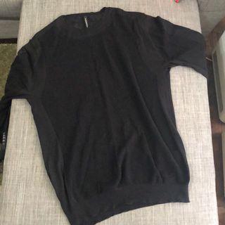 Blackbarett neil 副牌 prada 設計師 品牌 針織 上衣 衣服 黑色 長袖 上班 休閒 正式 衫
