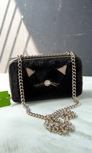 AUTHENTIC KATE SPADE WAllet on chain marigold