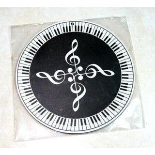 圓形滑鼠墊 音符 鋼琴 五線譜 音樂 樂譜 鋼琴鍵 禮品