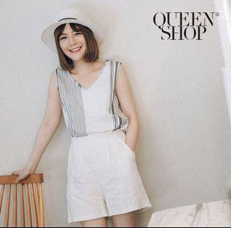 Queen Shop V領無袖上衣 背心