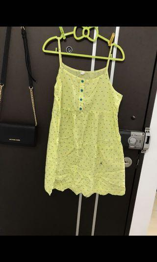 A la sha黃色元氣洋裝