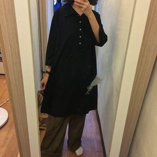 寬鬆長版polo衫
