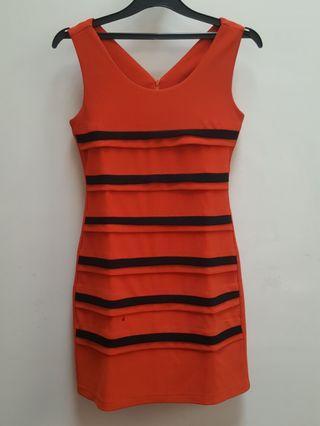 [Preloved] Orange Dress