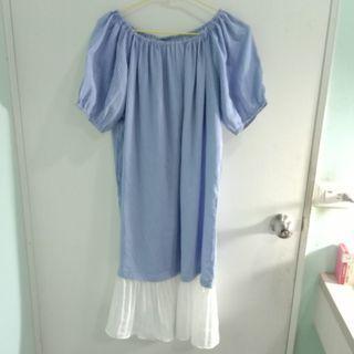 藍色魚尾洋裝