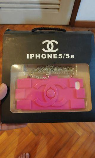 Chanel iPhone 5 5s casing with metal sling