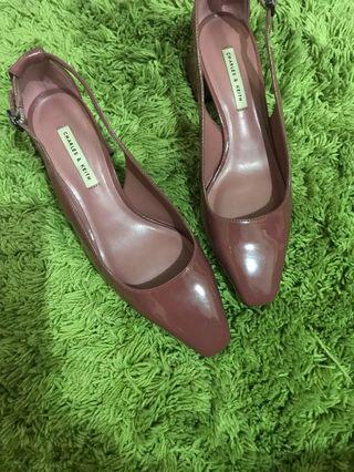 Charles and keith shoes / pink shoes / pump shoes