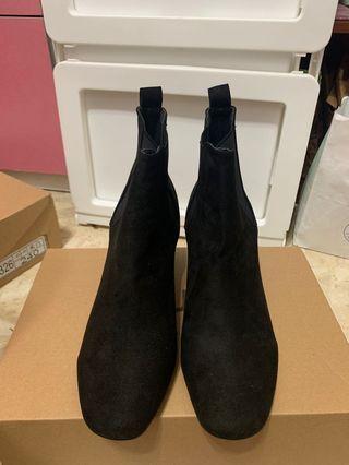 免運~韓版麂皮短靴
