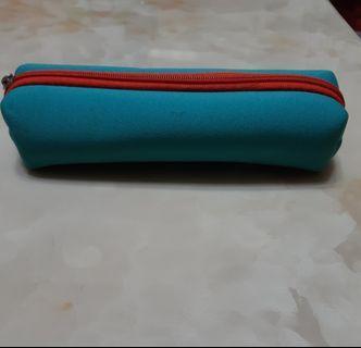 布質 筆袋 鉛筆盒  輕巧 水綠色