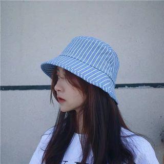 簡約條紋漁夫帽,韓國小清新漁夫帽