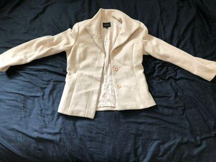🔥雙10當天特價100!🔥韓系韓版米白色淡米色外套韓國女生必備潮流外套