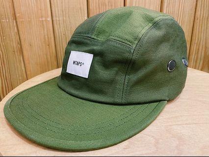 WTAPS 18AW 軍綠色拼接五分割帽 T-5 01