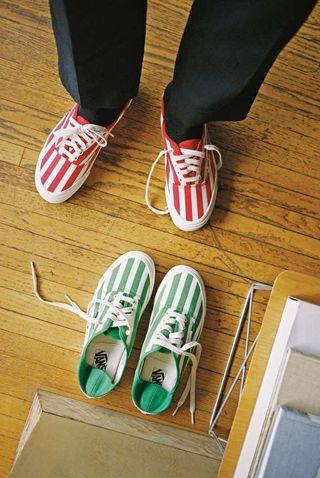 Vans OG style 43 LX 綠線 滑板鞋 休閒 36 supreme