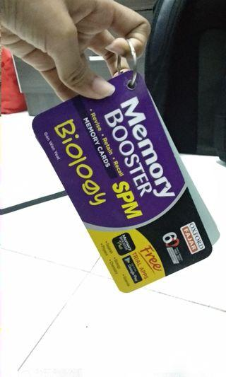 Memory Booster Memory Cards for SPM Biology