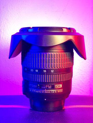 Nikon DX lens 12-24mm f4