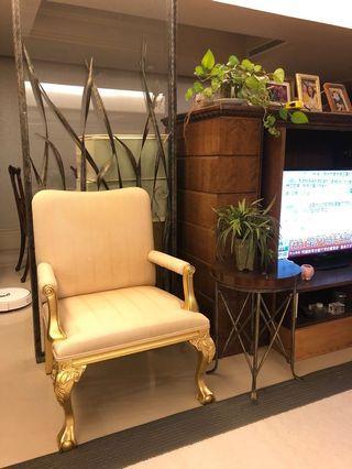 新古典歐式金箔雕花椅子 新北永和電梯大樓自取