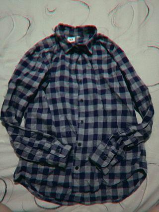 UNIQLO 格子藍襯衫 全新