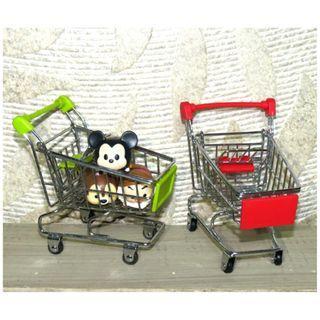 迷你 購物車 推車 微景觀 造景 拍照道具 拍攝 擺飾 擺件 裝飾品 大賣場推車