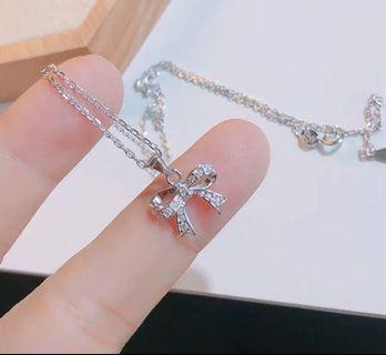 香港正生銀飾✈️ 立體蝴蝶結純銀項鍊