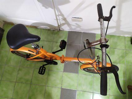 單速摺疊式腳踏車