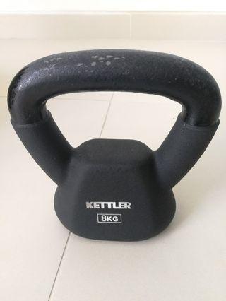 Kettler Neoprene Kettlebell 8kg