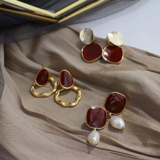 法式巴洛克珍珠耳環 925銀針
