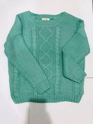 湖水綠 毛衣