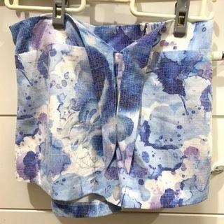Starmimi 渲染花朵印花綁帶短褲 s