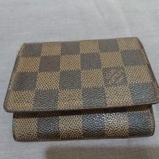 LV 原廠正品 棋盤格紋 名片夾