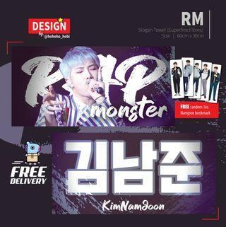 BTS - RM Slogan Towel (Superfine Fibre)