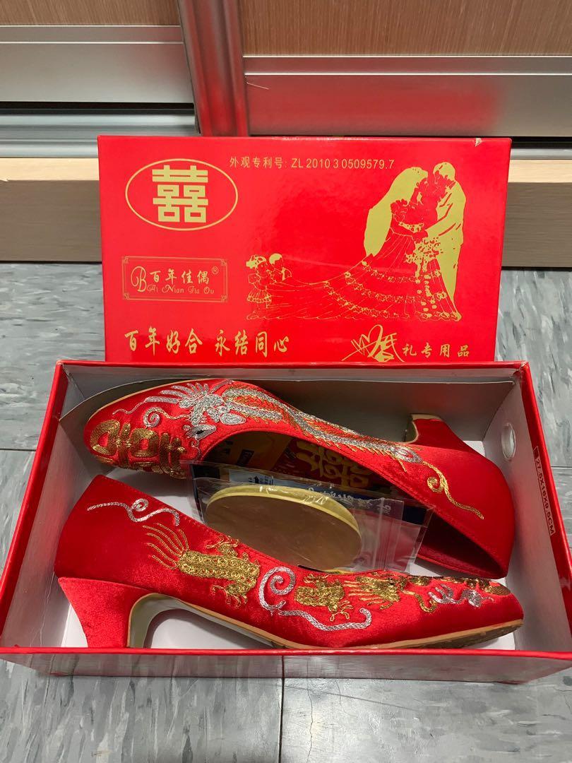 39碼金龍銀鳳褂鞋/高跟鞋