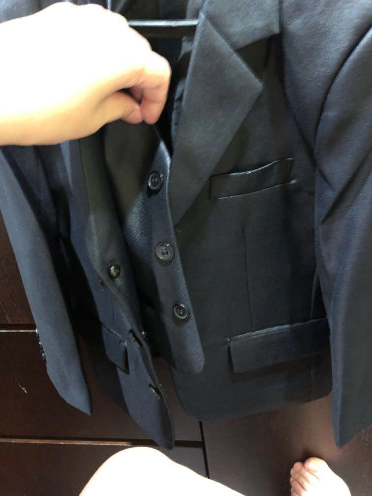 男童西裝一套 110cm 九成新