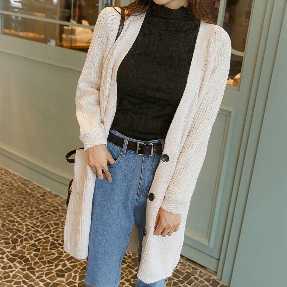 #正韓螺紋針織外套-3色