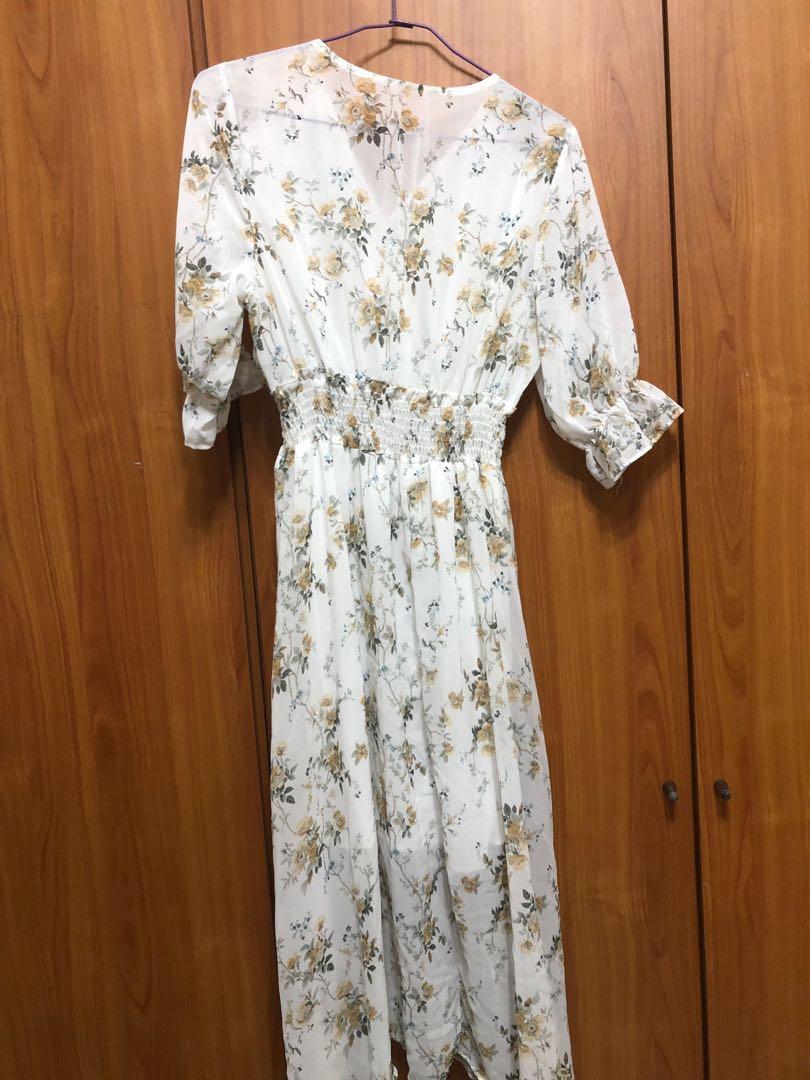 韓系碎花🌸微透膚洋裝