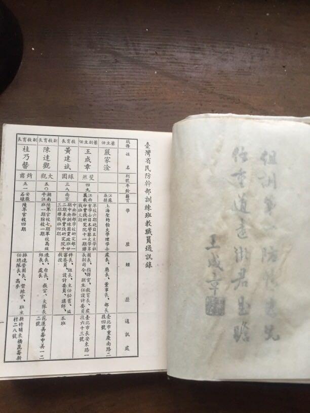 珍貴文史資料 機密通訊錄