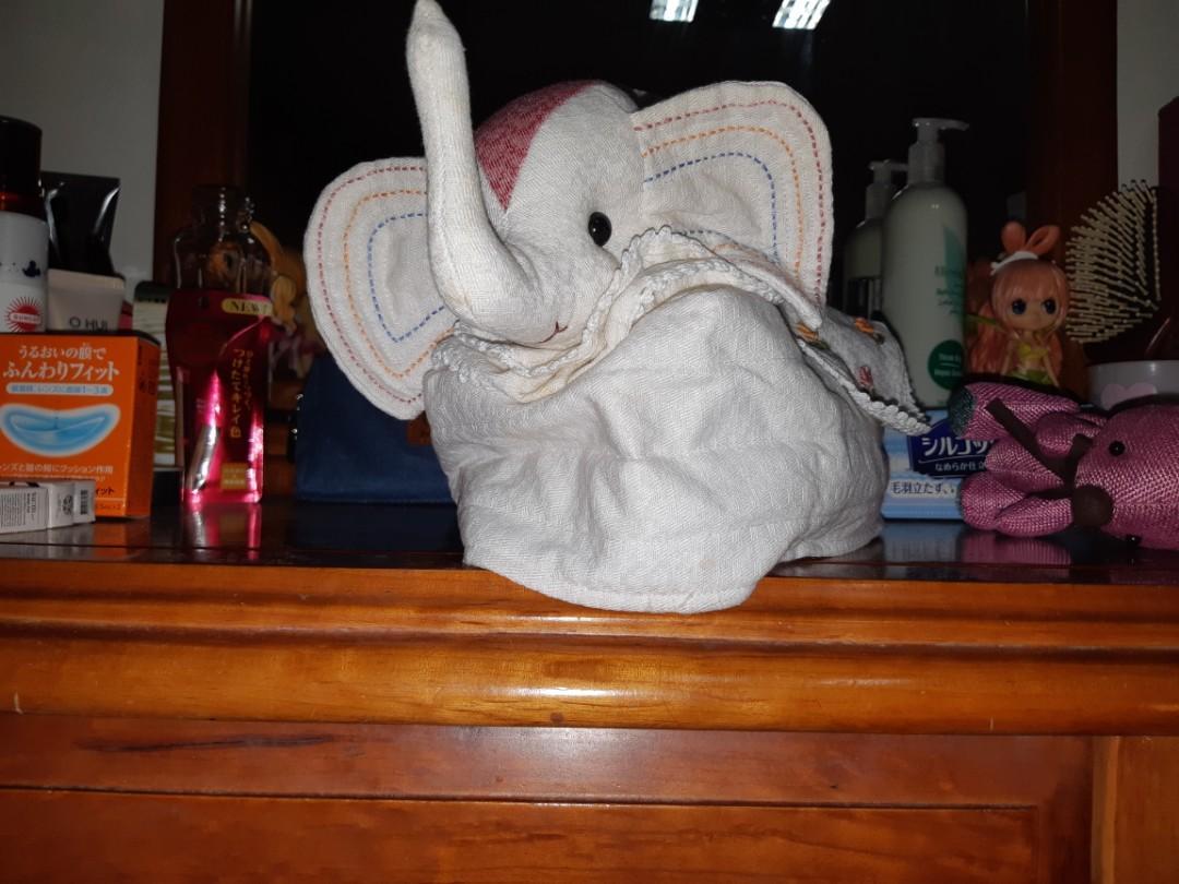 二手 白色大象面紙套