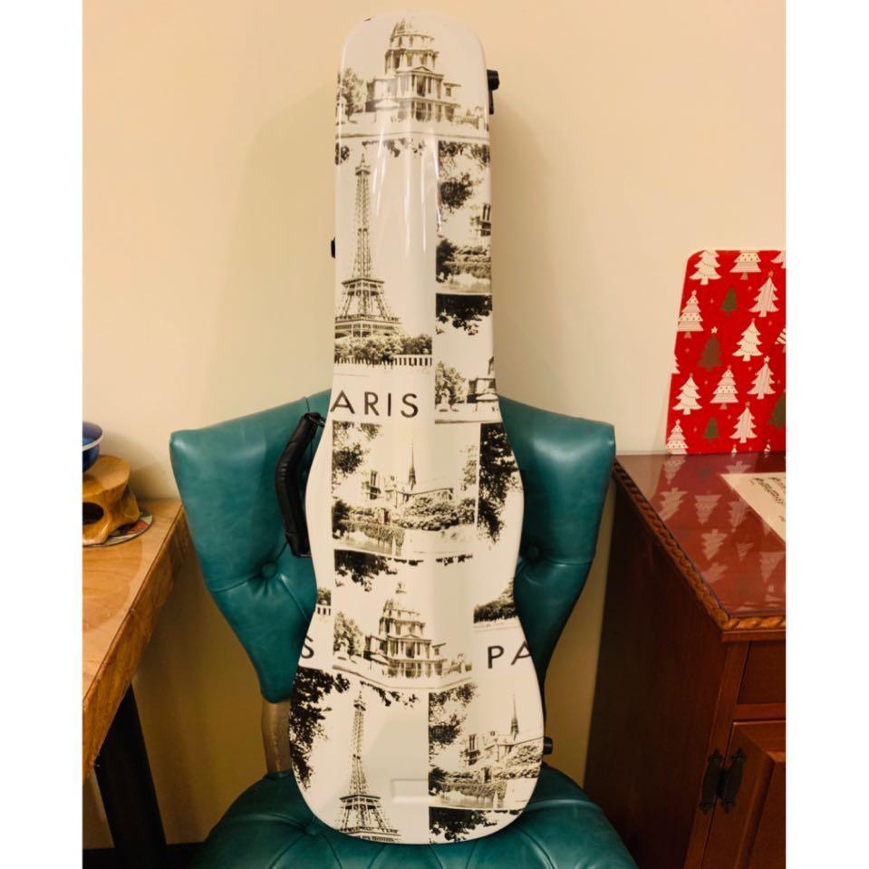 巴黎鐵塔 小提琴盒 4/4 成人尺寸 附背帶