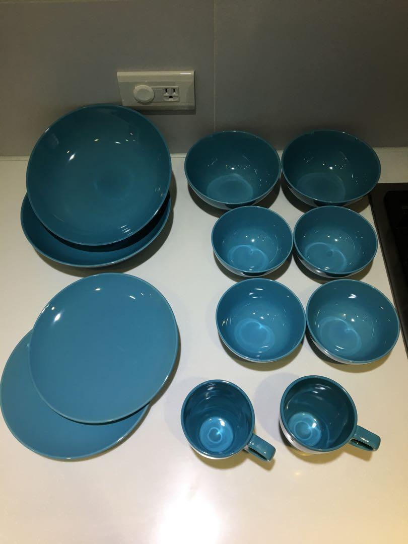 碗 盤 杯 Ikea 土耳其藍