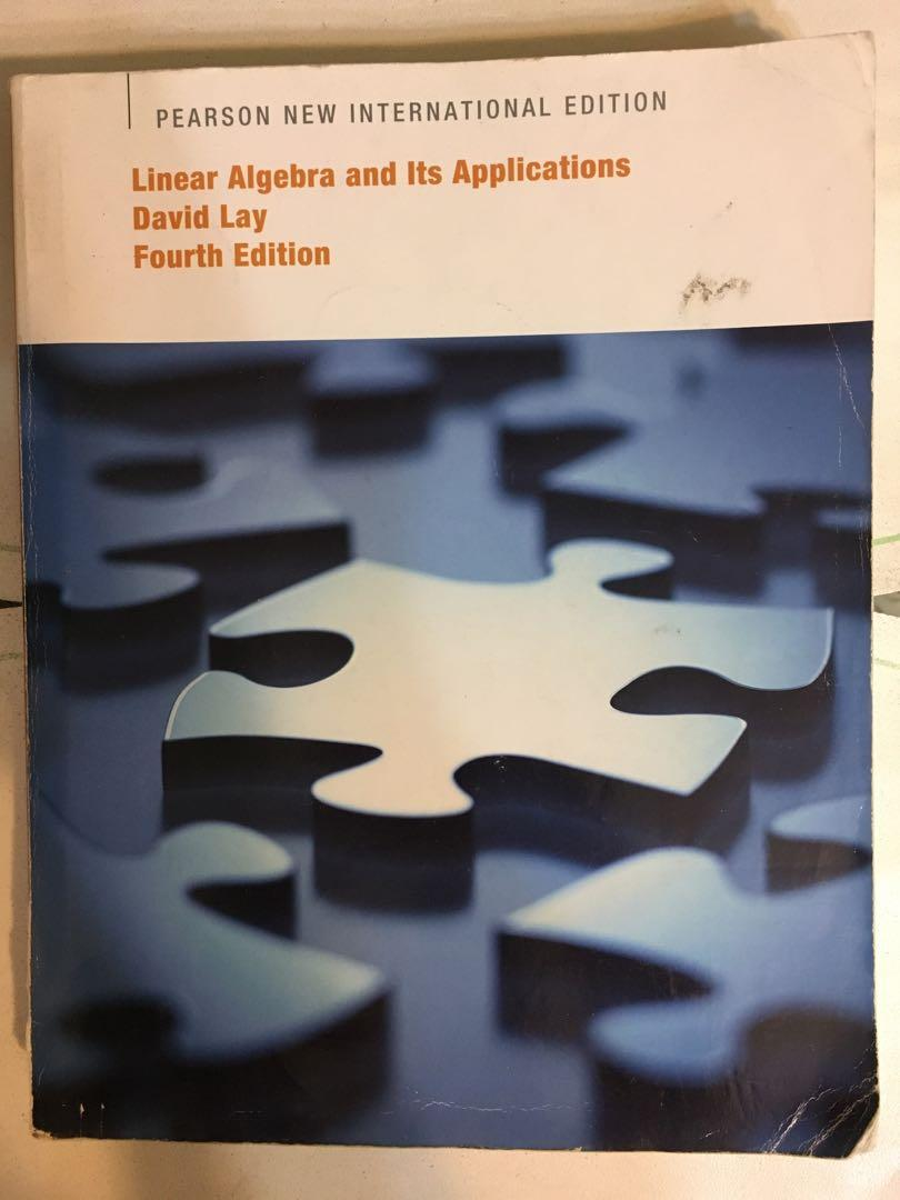 線性代數 線代 linear algebra and it's applications David lay fourth edition