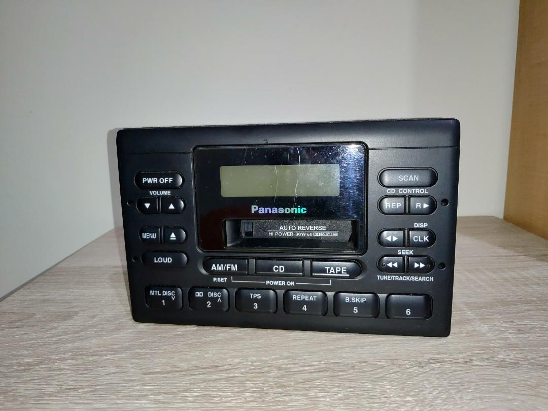 原廠汽車音響 日本松下 Panasonic CQ-LC108AA 可聽卡帶及外接片箱