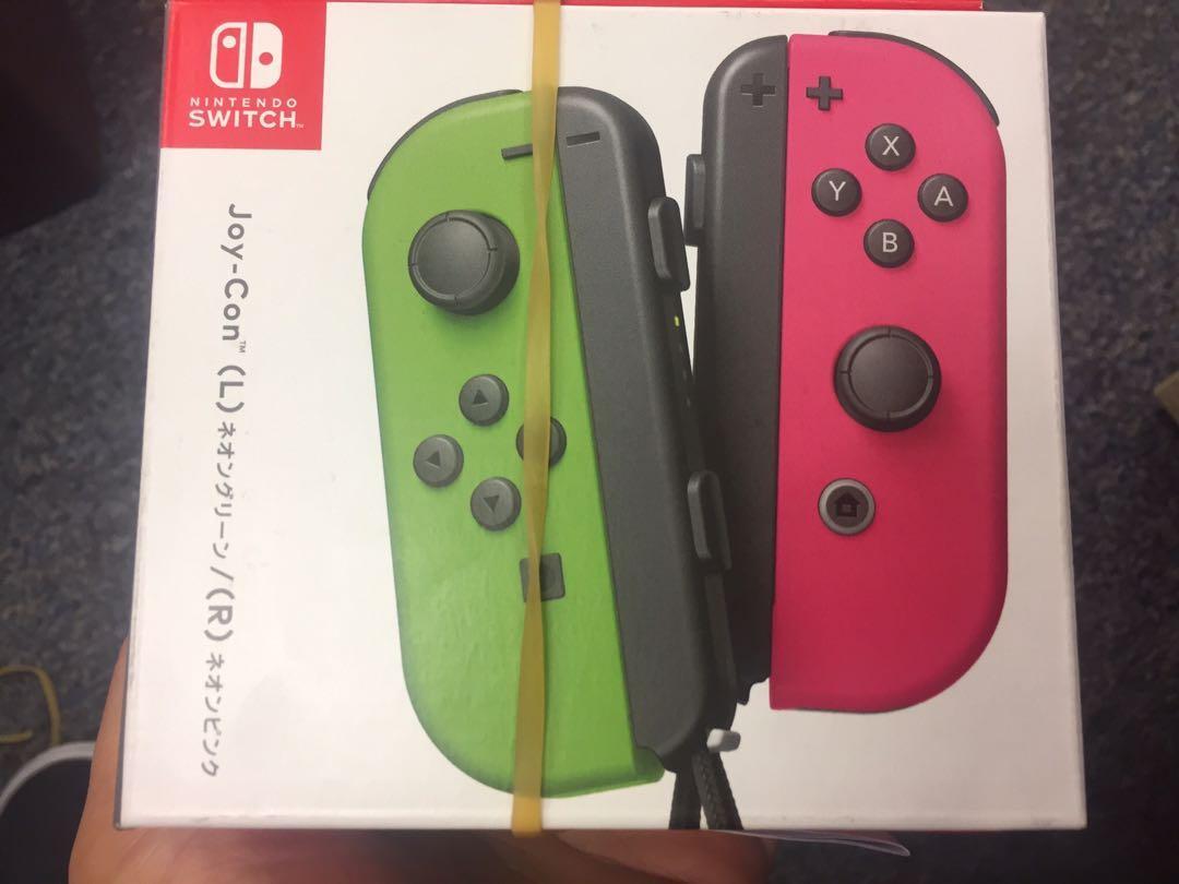 全新 Switch joy con 粉紅綠 香港行貨一年保養
