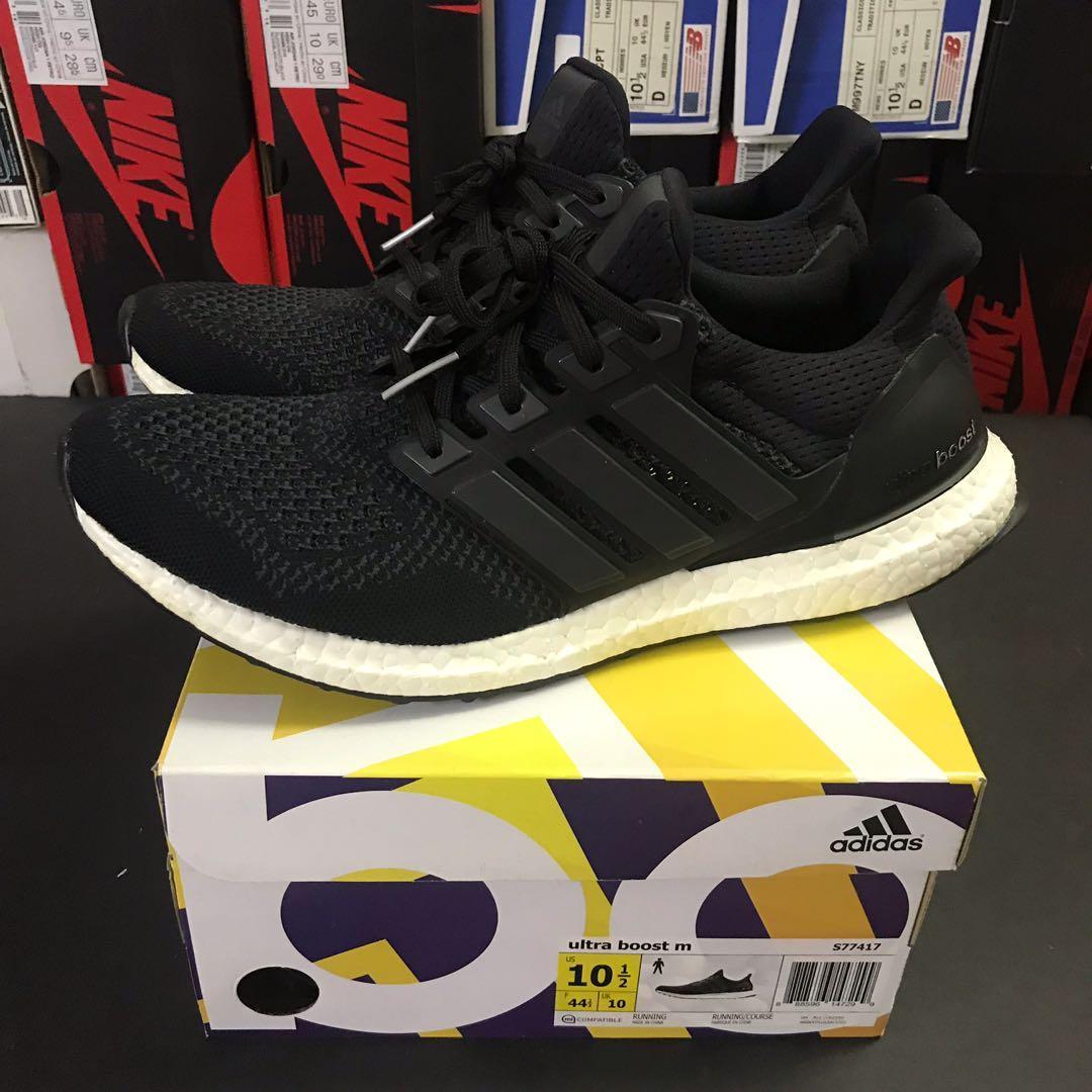 Adidas Ultra Boost 1.0 Core Black OG size US 10.5 (UK 10)