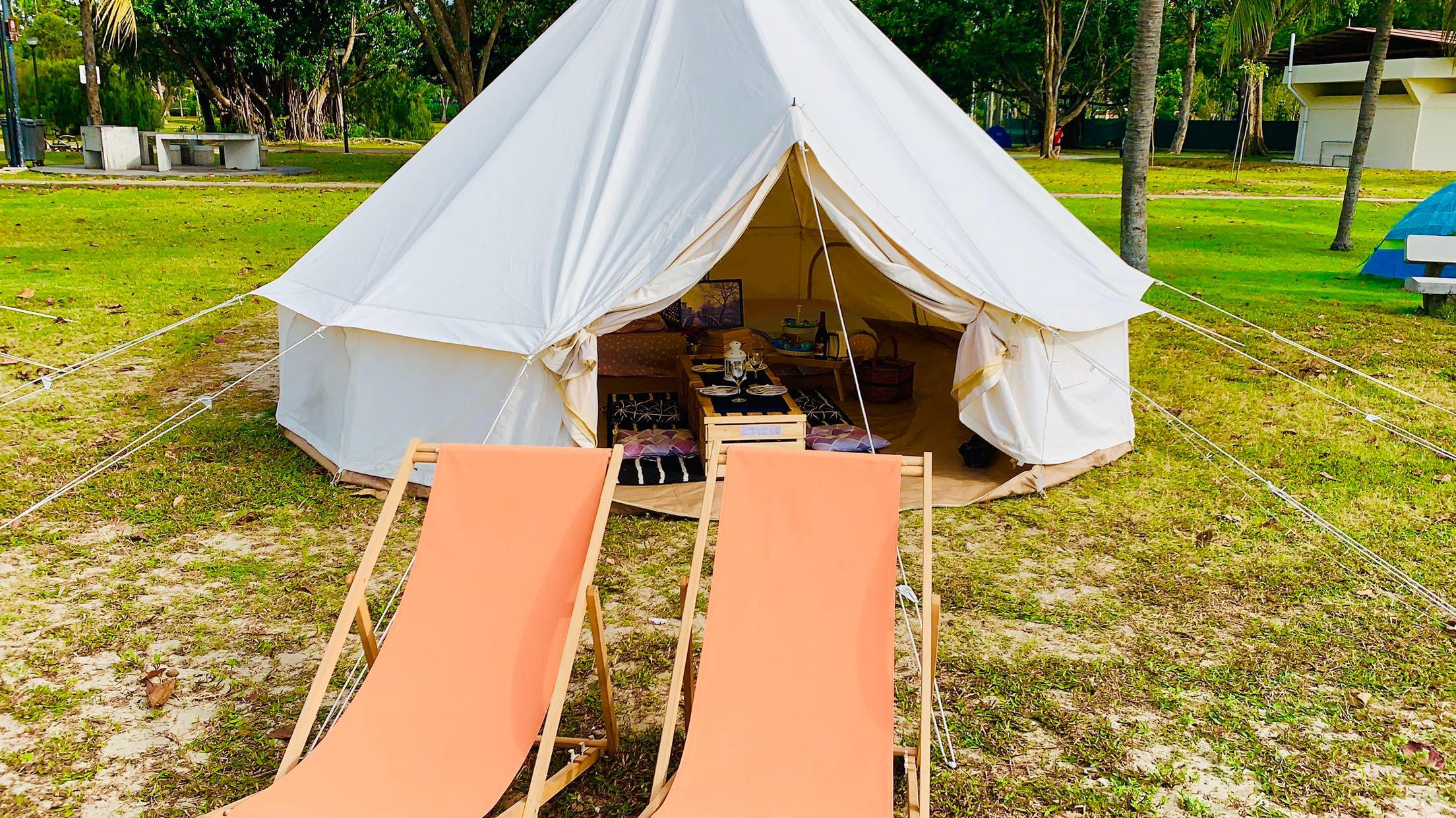 Authentic Glamping Bell Tent Service (2Pax)