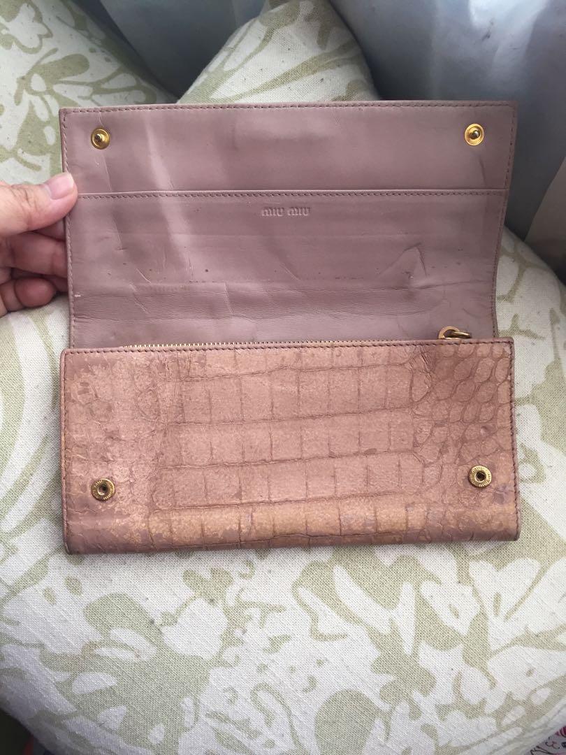 Authentic miu miu croco wallet