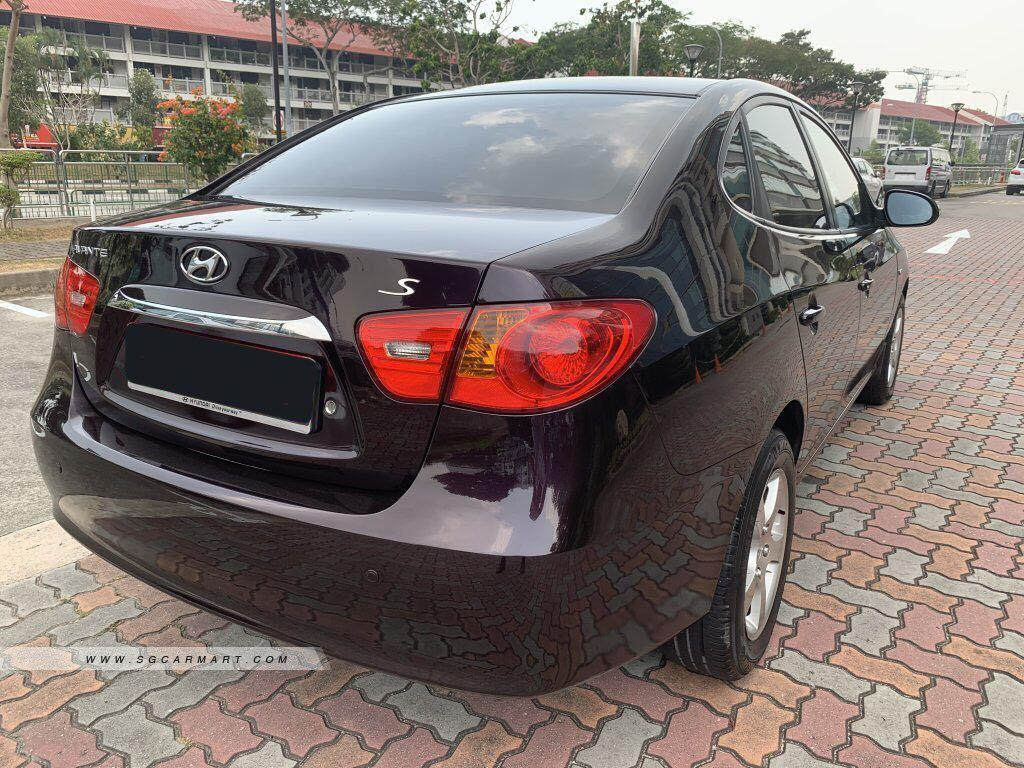 Black hyundai avante for rent PHV car rental private hire car lease