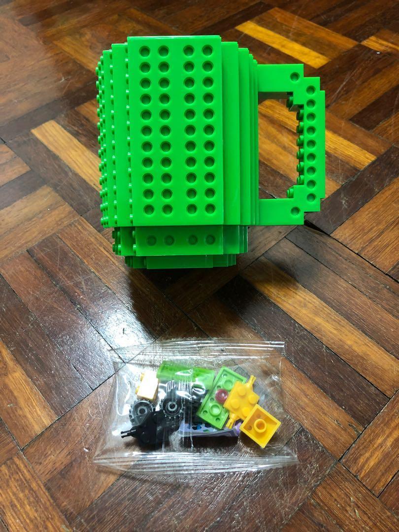 Build-On Brick Mug (Green)