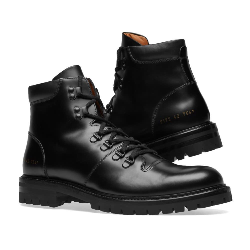 Common Projects Black Hiking Boots, Men