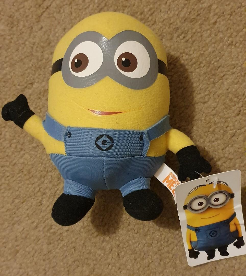 "Despicable Me 6"" Plush Two Eyed Minion Dave Thumbs Up - BRAND New"