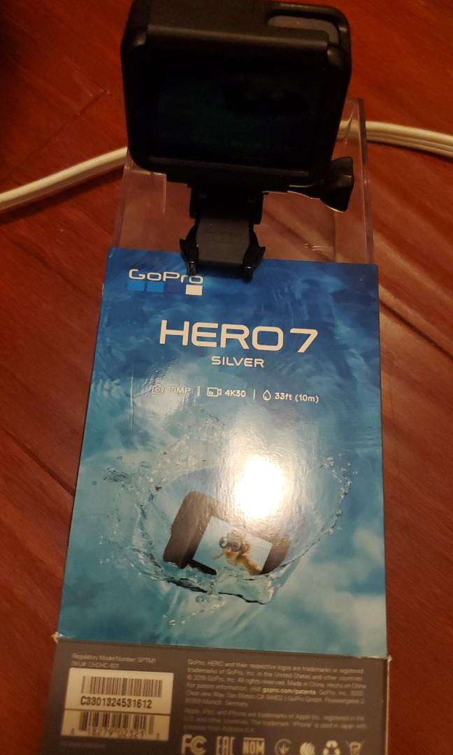 GoPro hero 7 silver with care plan w/ reciept on the box