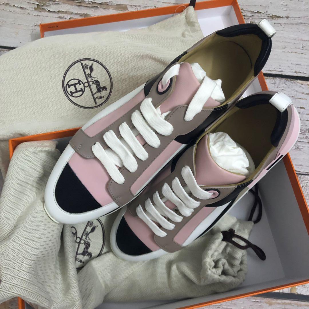 Hermes pink sneakers